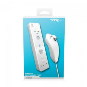 TTX: Wii/Wii U Wireless Remote +Motion plus & Control Stick (White)