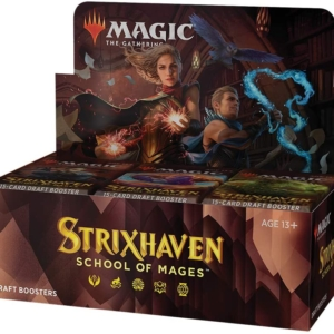 Magic: The Gathering – Strixhaven: School of Mages Draft Booster includes 1 Buy a Box Promo *This Product Has Been Delayed by WOTC. Expected Availability 4/29/2021